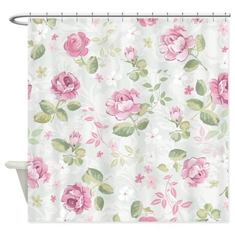 Beautiful Floral Pattern Shower Curtain By BestShowerCurtains