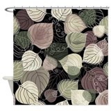 Autumn Leaf Pattern Shower Curtain