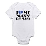 I Love My Navy Corpsman Infant Bodysuit