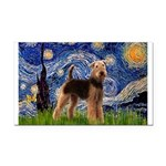 Starry Night - Airedale #6 Rectangle Car Magnet