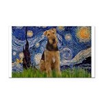 Starry - Airedale #1 Rectangle Car Magnet