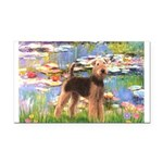 Lilies#2 - Airedale #6 Rectangle Car Magnet
