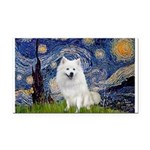 Starry-Am. Eskimo Dog Rectangle Car Magnet