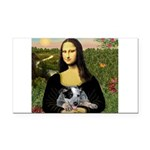 MonaLisa-AussieCattle Pup Rectangle Car Magnet