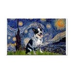 Starry-AussieCattlePup2 Rectangle Car Magnet