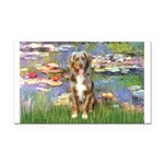 Lilies2-Australian Shep (#5) Rectangle Car Magnet