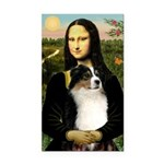 MonaLisa-Tri Aussie Shep2 Rectangle Car Magnet