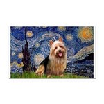 Starry-AussieTerrier Rectangle Car Magnet