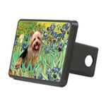 Irises - Aussie Terrier Rectangular Hitch Cover
