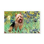 Irises - Aussie Terrier Rectangle Car Magnet