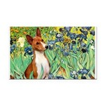 Basenji in Irises Rectangle Car Magnet