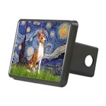 Starry Night & Basenji Rectangular Hitch Cover