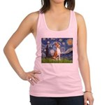 Starry Night & Basenji Racerback Tank Top