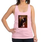 Lincoln / Basset Hound Racerback Tank Top