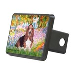 Basset in the Garden Rectangular Hitch Cover