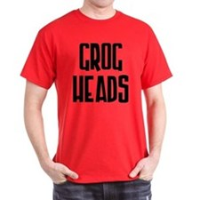 GrogHeads Text Logo T-Shirt in different colors