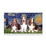 Starry Basset Rectangle Car Magnet