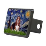Starry / Basset Hound Rectangular Hitch Cover