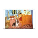 Van Gogh's Room & Basset Rectangle Car Magnet