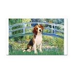 Bridge & Beagle Rectangle Car Magnet