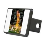 Fairies and Beagle Rectangular Hitch Cover