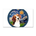 Starry Night Beagle #1 Rectangle Car Magnet