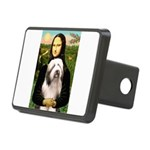 Mona / Bearded Collie #1 Rectangular Hitch Cover