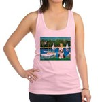 Sailboats / Beardie #1 Racerback Tank Top