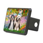 Garden / 2 Bearded Collie Rectangular Hitch Cover