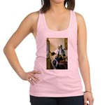 Pitcher / Bearded Collie Racerback Tank Top