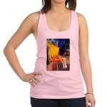 Cafe / Bedlington T Racerback Tank Top