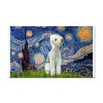 Starry / Bedlington Rectangle Car Magnet