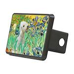 Irises /Bedlington T Rectangular Hitch Cover