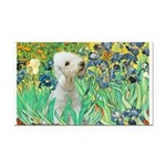 Irises /Bedlington T Rectangle Car Magnet