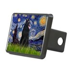 Starry Night /Belgian Sheepdog Rectangular Hitch C