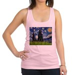Starry Night /Belgian Sheepdog Racerback Tank Top