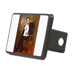 Lincoln & his Bichon Rectangular Hitch Cover