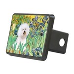 Irises and Bichon Rectangular Hitch Cover