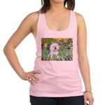 Irises and Bichon Racerback Tank Top