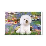Llies & Bichon Rectangle Car Magnet