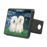 Lilies (#5) & 2 Bolognese Rectangular Hitch Cover