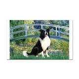 Bridge & Border Collie Rectangle Car Magnet