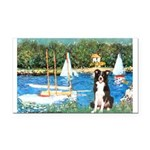 Sailboats & Border Collie Rectangle Car Magnet