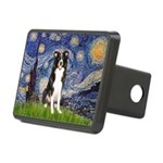 Starry Night Border Collie Rectangular Hitch Cover