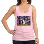 Starry Night Border Collie Racerback Tank Top