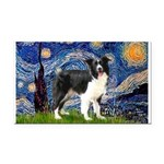 Starry / Border Collie (Z) Rectangle Car Magnet