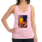 Cafe / Border Collie (Z) Racerback Tank Top