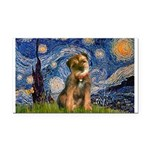 Starry Night / Border Terrier Rectangle Car Magnet