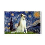 5.5x7.5-Starry-Borzoi1b.png Rectangle Car Magnet