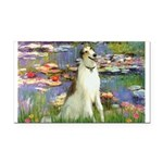 Borzoi in Monet's Lilies Rectangle Car Magnet